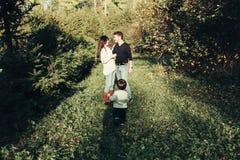 妈妈爸爸和儿子 图库摄影