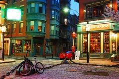 妈妈玛丽亚餐馆停住波士顿的意大利人北边的北部方形的公园 免版税图库摄影