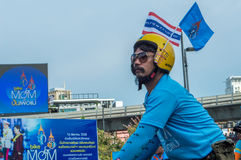 妈妈的泰国自行车 库存照片