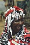 妈妈祖鲁族人 免版税图库摄影