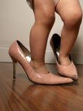 妈妈s鞋子 免版税图库摄影