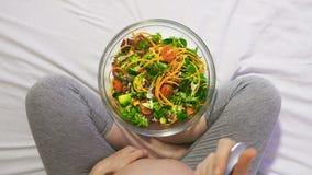 妊妇吃健康食品 股票视频