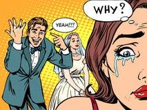 妒嫉人妇女婚礼爱 库存例证
