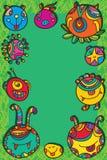 妖怪圈子框架绿色背景 免版税库存照片
