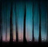 妖怪在森林里 库存例证