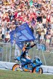 妖怪能量Catalunya MotoGP格兰披治  优胜者moto3亚历克斯Marquez 埃斯特里拉加利西亚队 免版税图库摄影