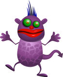 妖怪紫色 免版税库存图片