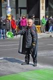 妖精在圣帕特里克` s天游行渥太华,加拿大 免版税库存照片