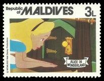 妙境和匙孔的阿丽斯 免版税库存照片