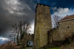 绍姆堡城堡塔在德国 免版税库存照片