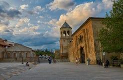 姆茨赫塔,乔治亚- 2017年7月31日:Mt的Svetitskhoveli大教堂 免版税库存图片