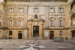 姆迪纳的Vilhena宫殿马耳他的 图库摄影