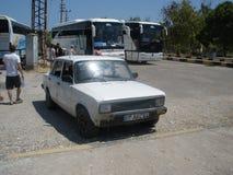代姆雷,土耳其- 2012年8月 老汽车Tofas 库存照片
