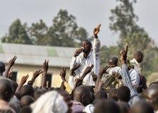 姆巴莱,乌干达- 2011年2月:FDC竞选活动 库存照片