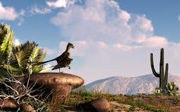 始祖鸟在沙漠 向量例证