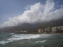 委内瑞拉海滩和海岸看法  免版税库存照片
