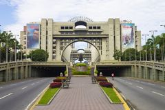 委内瑞拉的正义宫殿的看法在加拉加斯,委内瑞拉 免版税库存图片