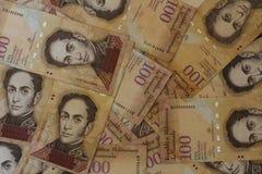 委内瑞拉货币金钱Bolivares Bs 100现金 免版税库存图片