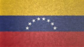 委内瑞拉3D的原始的旗子图象 皇族释放例证