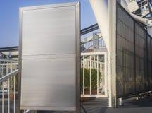 委员会或拷贝在城市公园的空间背景 库存图片