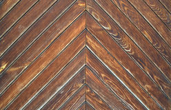 从委员会的布朗木纹理 免版税库存图片
