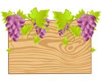 委员会缠绕的葡萄 免版税库存照片