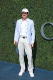委员会主席网球频道隆重的肯所罗门的和CEO在美国公开赛2016人` s决赛前 免版税库存图片