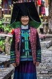 姚国籍妇女在云南,中国 免版税库存图片