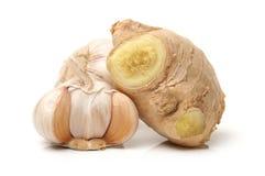 姜和大蒜 免版税库存图片