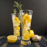 姜柠檬水 库存图片