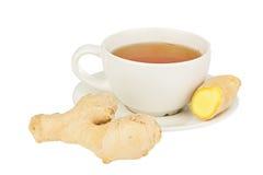 从姜的可口热的茶 免版税库存照片