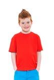 姜红色头发男孩 库存照片