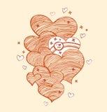 姜线性心脏 库存照片