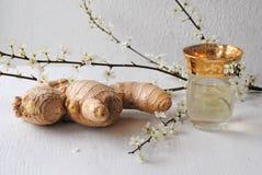 姜茶有益于健康和口味 图库摄影