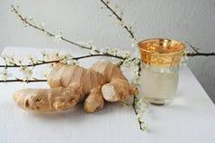 姜茶有益于健康和口味 库存照片