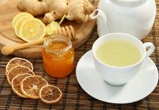 姜蜂蜜柠檬茶 库存图片
