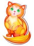 姜逗人喜爱的猫 免版税库存图片