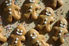 姜面包圣诞节的人曲奇饼 库存照片
