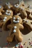 姜面包圣诞节的人曲奇饼 库存图片