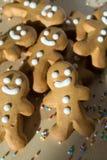 姜面包圣诞节的人曲奇饼 免版税库存照片