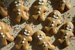 姜面包圣诞节的人曲奇饼 免版税库存图片