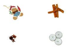 姜饼、蜡烛和桂香 免版税库存照片