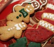 姜饼人和曲奇饼。 免版税库存照片