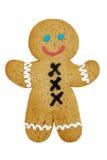 姜饼人微笑 免版税库存照片