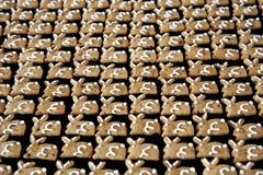 姜饼兔宝宝背景 免版税库存照片