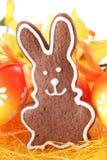 姜饼兔宝宝 库存图片