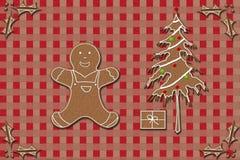姜饼和圣诞节 免版税图库摄影