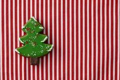姜饼圣诞树曲奇饼 免版税库存图片