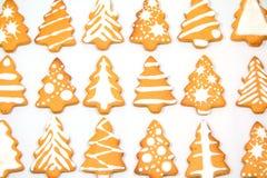姜饼圣诞树 免版税库存图片