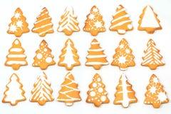 姜饼圣诞树 图库摄影
